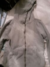 Boys Hooded Zip Grey Top Age 10 To 11
