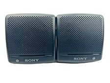 "Sony SRS-7 Speaker System 3"" Black AUX Portable Mini Speakers - Tested"