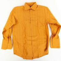 Men's BIANI Of Italy (XL) Orange Long Sleeve Button Front French Cuff Shirt
