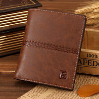 Men's Leather Bifold Credit ID Card Holder Wallet Clutch Billfold Purse