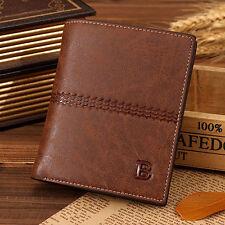 Men's Leather Bifold Credit ID Card Holder Wallet Clutch Billfold Purse