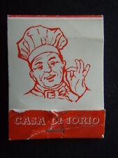 CASA DI IORIO RESTAURANT PIZZA HOUSE 139-141 LYGON ST CARLTON 3472670 MATCHBOOK