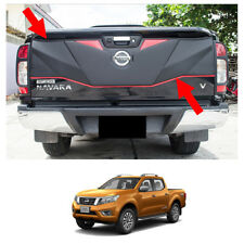 Rear Tailgate Outer Lid Cover Matte Black Red Fits Nissan NP300 Navara 2014 - 17