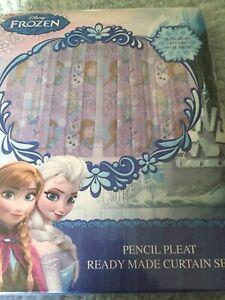 Curtains     Frozen. 66x72.   New.  Pencil Pleat