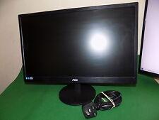 "AOC 21.5"" LCD with LED Backlight Flat Screen Computer PC Monitor Black VGA DVI-D"