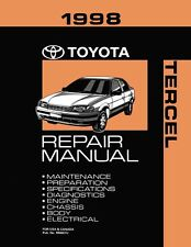 1998 Toyota Tercel Shop Service Repair Manual Book Engine Drivetrain OEM