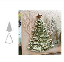 Weihnachten Baum Metall Stencil Cutting Dies Scrapbooking Stanzschablone Karte