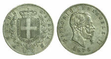 pci0475) Regno Vittorio Emanuele II  lire 5 scudo 1875 Mi - Toned