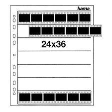 100 x Hama NEGATIVE GLASSINE SHEET 35mm 24x36 Photo Film Sleeve for Ringbinders