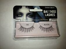 "Fright Night ""Bat Those Lashes"" Black 116 Re-Usable Falsies with Adhesive Glue"
