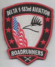 """DELTA CO 1-183rd AVN """"ROADRUNNERS"""" patch"""