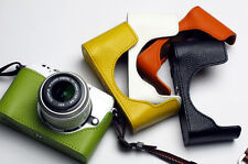Handmade Real Leather Half Camera Case bag for Olympus E-PL2 EPL2 Six colors