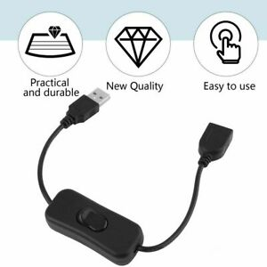 USB Cable Male to Female with Switch ON/OFF Extension Connector NO DATA TRANSFER