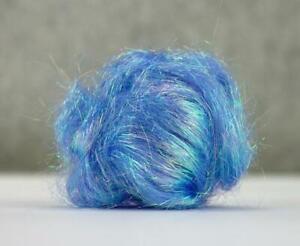 10g Angelina Fibre Blue Cobalt Sparkle Heat Bondable Crafts Fusible Felting