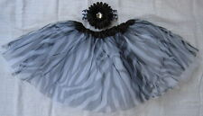 Zebra Tutu Skirt Ballet Dance Tulle Girl + Headband