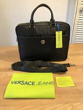VERSACE JEANS LINEA CHEVRON BLACK SMALL BRIEFCASE! New! Only £129,90!!!