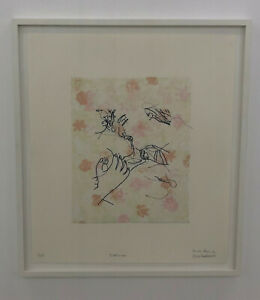 Ghada Amer and Reza Farkhondeh, Dalliances, 2005, litho with digitized sewing