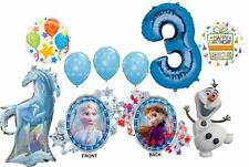 Frozen 2 Party Supplies 3rd Birthday Elsa, Anna, Olaf and Nokk Balloon Bouque...