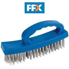 Fil//Nylon Brush Set 3pc 230 mm-Draper 26928 Inoxydable 3 Laiton Nylon Acier
