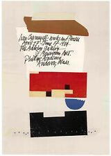 1984 Ivan Chermayeff WORKS + PROCESS Modern COLLAGE Graphic Design Exhib. POSTER