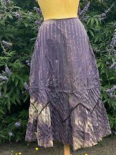 Ancien Jupe à rayure mauve 1900 ANTIQUE VICTORIAN EDWARDIAN