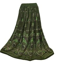 Sequin Party Skirt Indian Maxi New Gypsy Hippie Long UK 8 10 12 14 16 18 20 22
