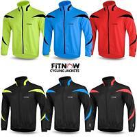 Mens Cycling Jacket Winter Thermal Fleece Windproof Windstopper Long Sleeve