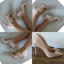 PRIMARK NUDE EXTREME POINT ULTRA HIGH STILETTO HEELS UK 7 EU 41