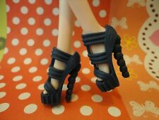 Doll shoes ~ 1PAIR Mattel Monster High Ever After Blue Heel Sandal shoes #MS-588