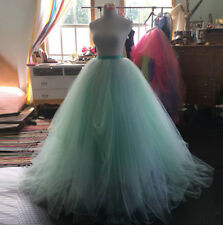 37bca26198 Vintage Wedding Bridal Ball Skirt Women Long Tulle Tutu Evening Party Prom  Skirt
