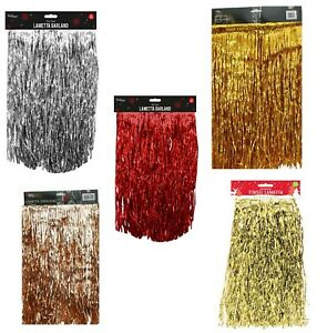 Lametta Strands Angel Hair Gold Silver Red Xmas Tree Decoration 1.2M Christmas