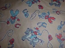 "Vtg Toddler Boys Cotton Shorts Boxers Cowboy Motif Fabric 16"" Elastic Waist"