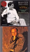 Leonard Slatkin signed Bernstein: Songfest dans posthume Symphony No. 1 Jeremiah CD