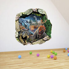 3D Dinosaurs PVC Through the Wall Stickers Jurassic Park Kids Room Decoration