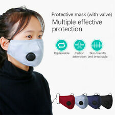 Reusable Face Mask Air Purifying Cotton Mouth Cover PM2.5 filter face mask Grey