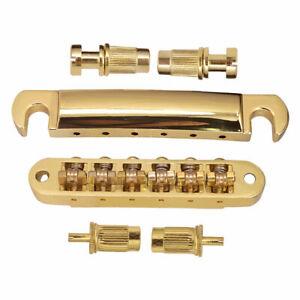 Gold Roller Saddle Guitar Bridge Tailpiece for Gibson Les Paul LP Epiphone Parts
