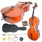 New 4/4 Size Top Professional Basswood Acoustic Cello +Bag+ Bow+ Rosin+Bridge BP