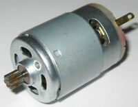 6V DC RS-380S Hobby Motor w/ 6 Tooth Metal Gear - 11,000 RPM - 2.3 mm Shaft Dia.