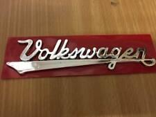 VW BUG VINTAGE EMBLEM REAR Front HOOD Nameplate BEETLE Script Written w/ Defects