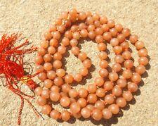 Red aventurine gemstone japa mala beads 108 beads ~ meditation, prayer