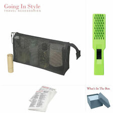 Mesh Cosmetic Bag 4 X 8 with Hair Brush Travel Set | Going In Style