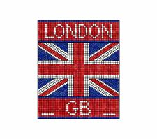 UK LONDON MOSAICO Inghilterra GB Adesivo Decalcomania Grafica Vinile etichetta V3