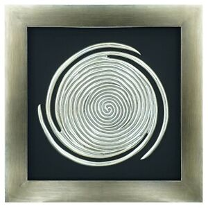 Abstract Spiral Shadow Box Wall Décor
