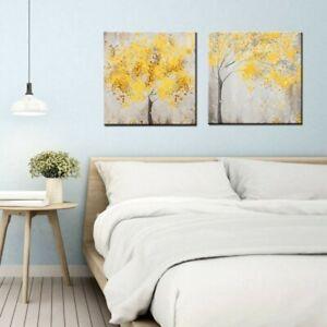 2Pcs 30*30cm Wall Art Painting Decor Tree Canvas  Printing  Home Poster Decor;