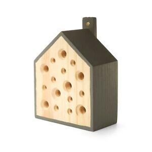 LITTLE BEE HOUSE Bienenhaus Insektenhotel, Holz, 12cm, KIKKERLAND