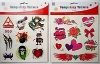 Temporary Tattoos Birthday Party Bag Filler 5 Sheets Kids Children 40+ Boy Girl