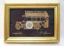 P Ammon Steampunk Art London Bus Watch Parts Sculpture Signed Framed Wall Art
