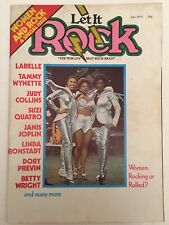 LET IT ROCK MAGAZINE JULY 1975 Women Rocking Or Rolled.