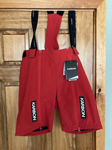 Karbon Gravity Ski Race Training Shorts for Over GS Suit - Red Size Small - NWT
