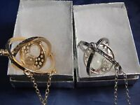 (2) Harry Potter Time Turner Necklaces One Silver and One Gold USA Free Shipping